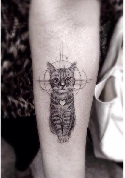 Tatuagem gato 13